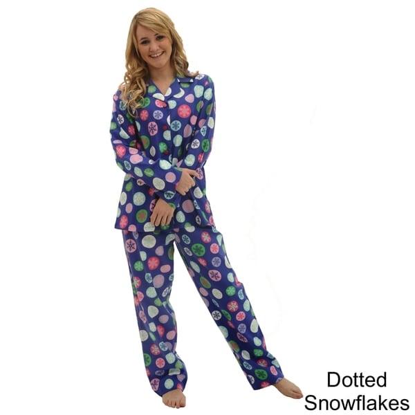 Del Rossa Women's Flannel Pajama Set