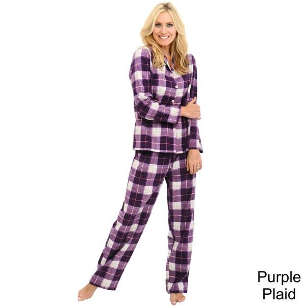 Del Rossa Women's Classic Flannel Pajama Set