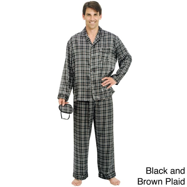 Del Rossa Men's Classic 3-piece Satin Pajama Set