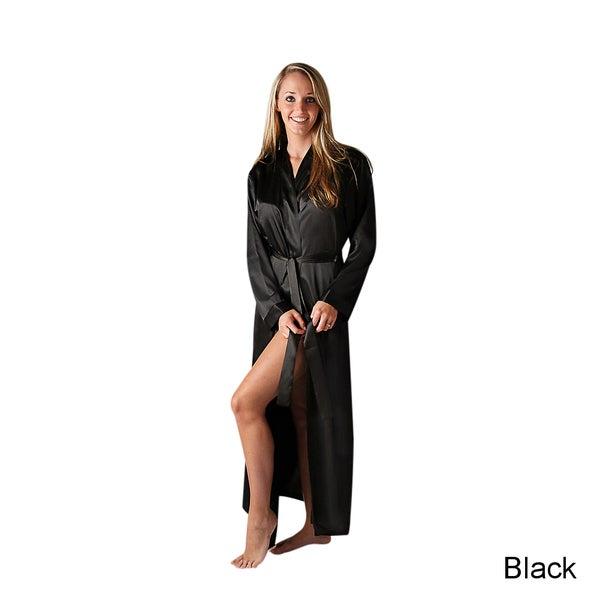 Del Rossa Women's Long Lightweight Satin Robe