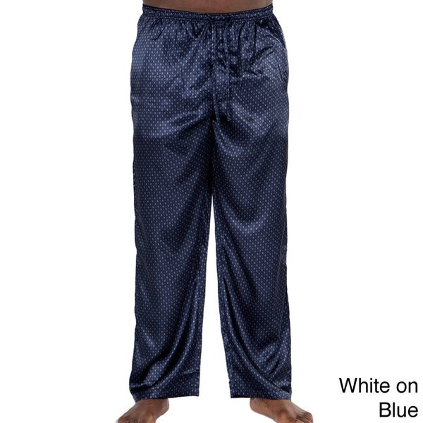 0dd65a7099 Shop Del Rossa Men s Satin Pajama Pants - Free Shipping On Orders ...