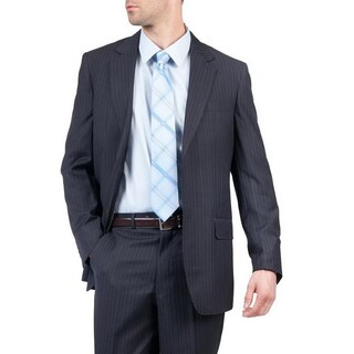 Men's Blue Modern Fit Two-Button Suit with Three Interior Pockets (More options available)