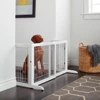 Richell Freestanding Wood Adjustable Pet Gate