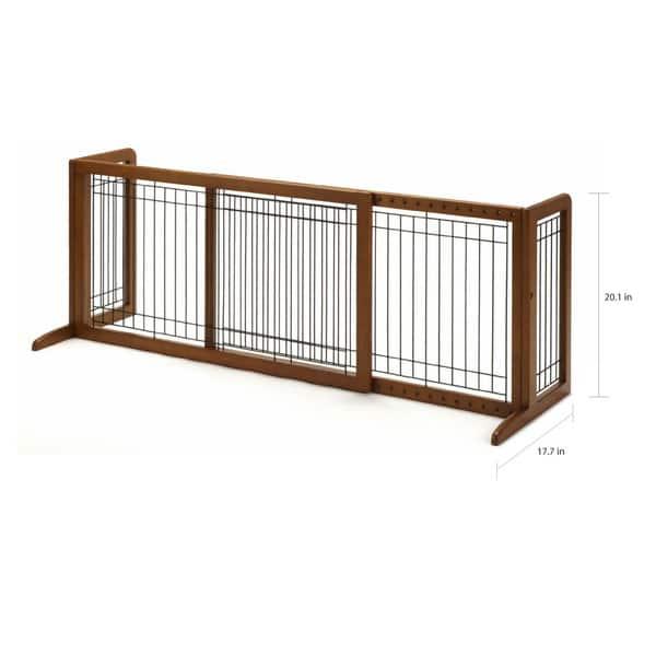 Richell Freestanding Wood Adjule Pet Gate Free