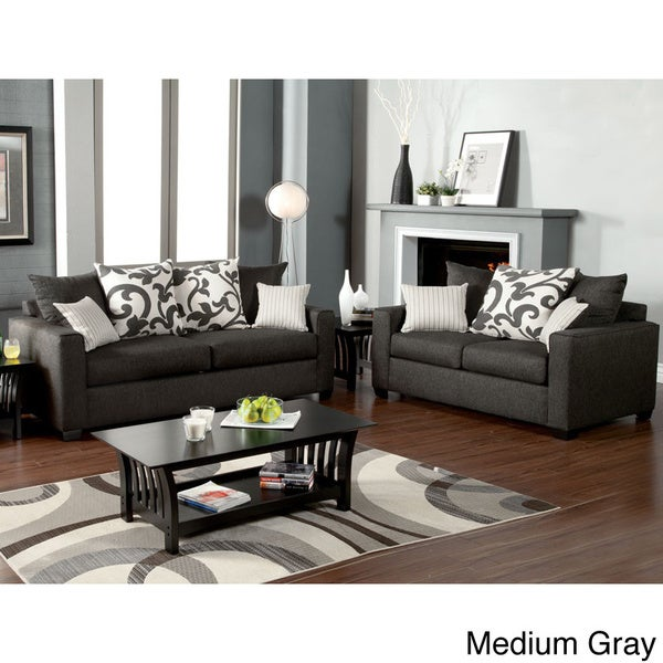 Shop Colebrook 2 Piece Sofa Set With Accent Pillows Free Shipping Today 8398802