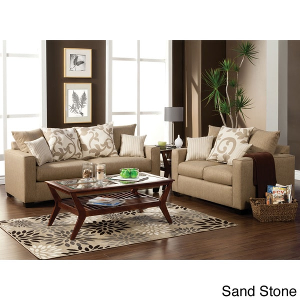Colebrook 2 Piece Sofa Set With Accent Pillows