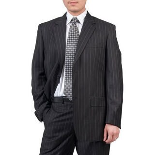 Men's Charcoal Modern Fit 2-button Suit