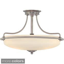 Quoizel 'Griffin' 4-light Semi-flush Mount
