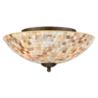 Quoizel 'Monterey Mosaic' 3-light Flush Mount