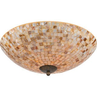 Quoizel 'Monterey Mosaic' 4-light Flush Mount