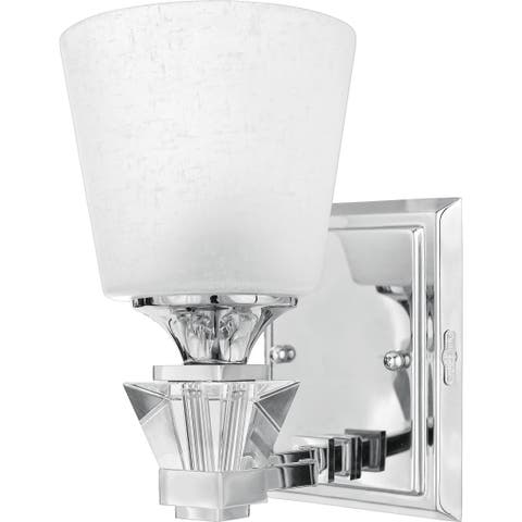 Quoizel Qoizel 'Deluxe' One-light Bath Fixture - Silver