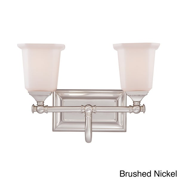 Quoizel 39 nicholas 39 two light bath fixture free shipping for 6 light bathroom fixture