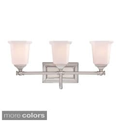 Quoizel 'Nichola' Three-light Bath Fixture