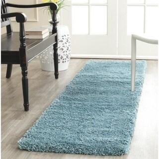 Safavieh Milan Shag Aqua Blue Runner (2' x 6')