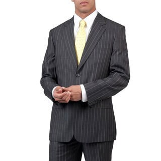 Men's Grey Modern Fit Two-Button Suit with Two Back Pockets