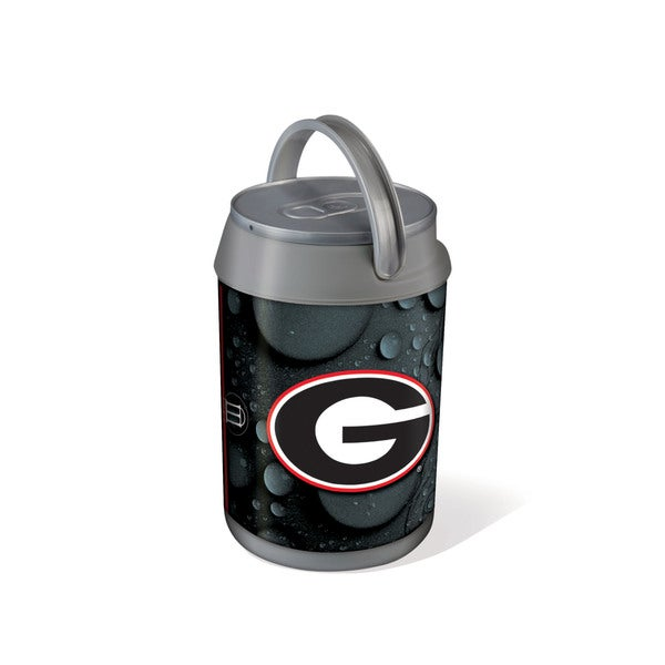 Digital Print Silver/ Grey Mini Can Cooler (University of Georgia Bulldogs)