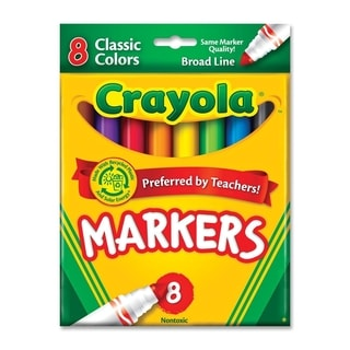 Crayola Non-Washable Markers Broad Point Classic Colors 8/Set