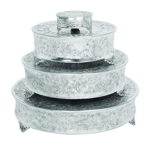 Casa Cortes Event Essentials Round Wedding Cake Stands 4-piece Set