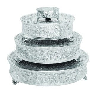 Casa Cortes Event Essentials Round Wedding Cake Stands 4-piece Set