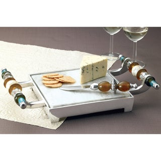 Multi-colored Beaded 10x15-inch Cheese Tray