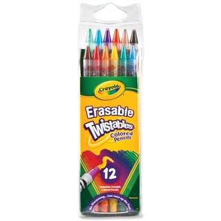 Crayola Twistables Erasable Colored Pencils 12 Assorted Colors/Pack