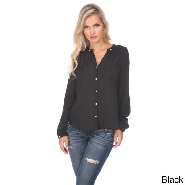 Stanzino Women 39 S Long Sleeve Button Down Shirt Free