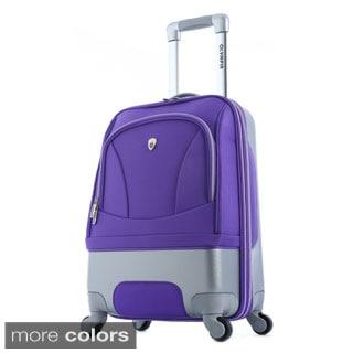 Olympia 'Majestic' 25-inch Hybrid Medium Spinner Upright Suitcase