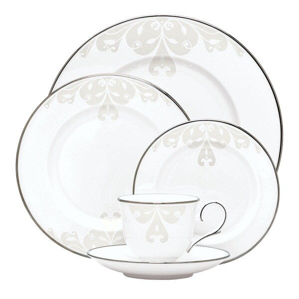 Shop Lenox Opal Innocence Scroll 5 Piece Dinnerware Place
