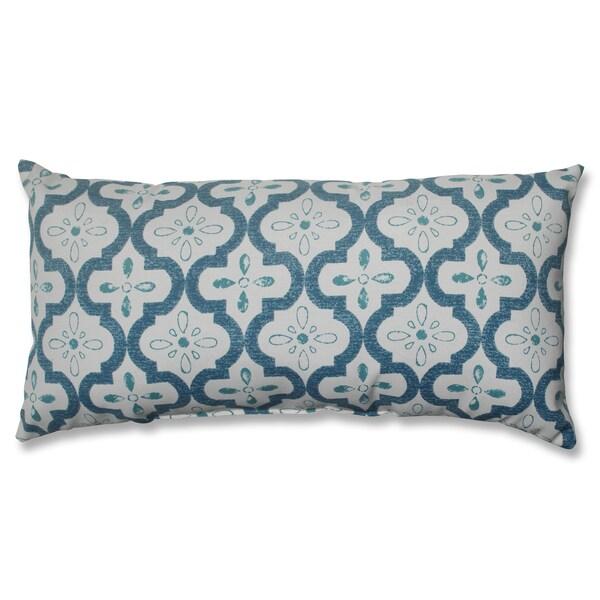 Pillow Perfect Conservatory Blue Bolster Decorative Pillow