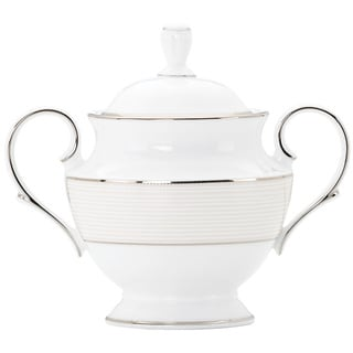 Lenox Opal Innocence Stripe Sugar Bowl