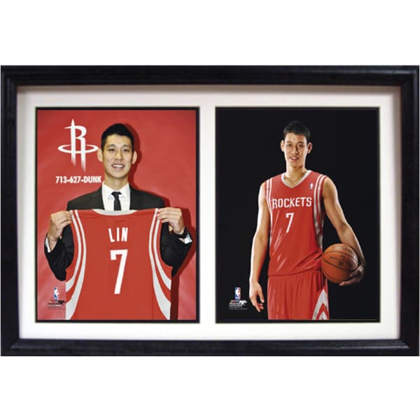 Houston Rockets Jeremy Lin 12 x 18 Double Photo Frame
