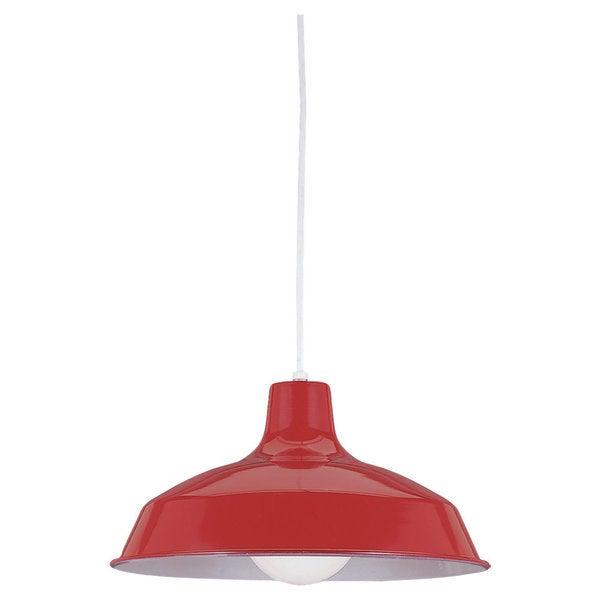 Red 1-light Stem Pendant. Opens flyout.