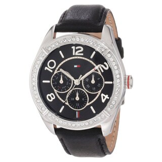 Tommy Hilfiger Women's 'Gracie' Crystal-accented Watch (Option: Black)