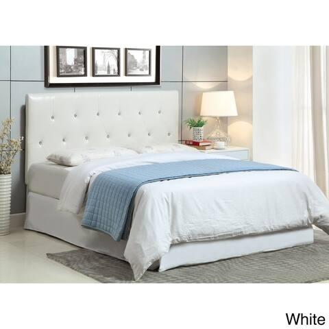 Furniture of America Luxi Modern White Twin Faux Leather Headboard