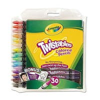Crayola Twistables Colored Pencils 30 Assorted Colors/Pack