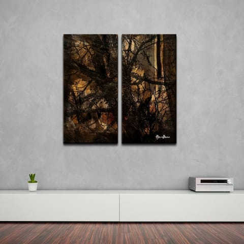 Ready2HangArt 'Tree Study' Oversized Abstract Canvas Wall Art (2-Piece)
