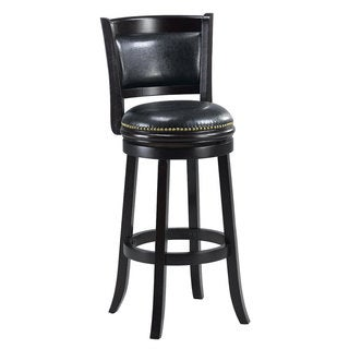Alexis Black Padded-back 29-inch Bar Stool