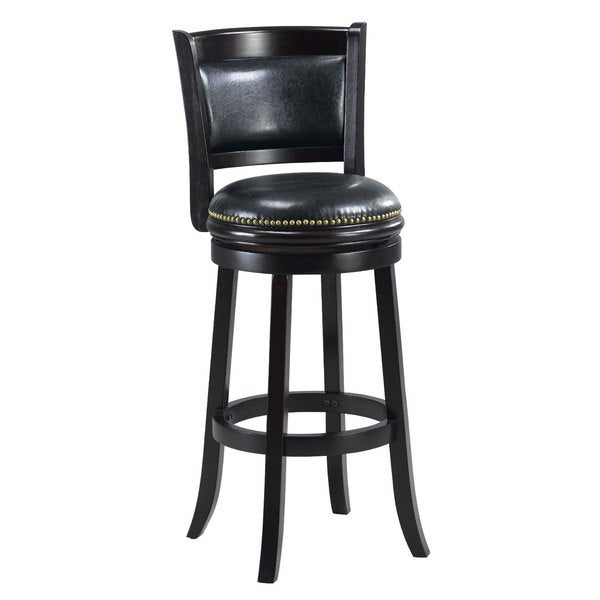 Shop Alexis Black Padded Back 29 Inch Bar Stool Free