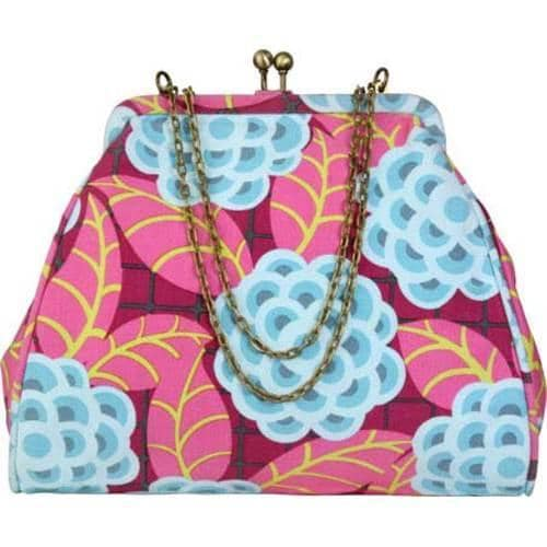 Women's Amy Butler Nora Clutch With Chain Tea Rose Raspberry