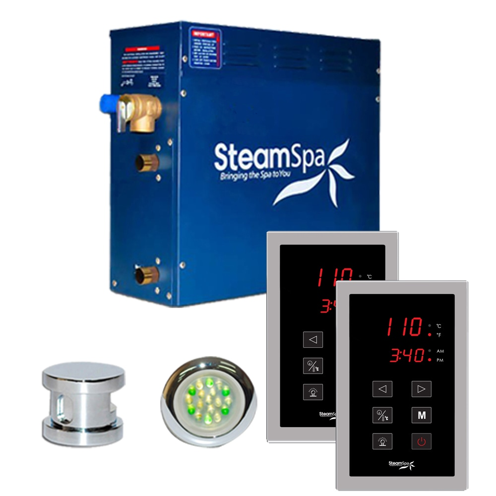SteamSpa Royal 9kw Touch Pad Steam Generator Package in Chrome