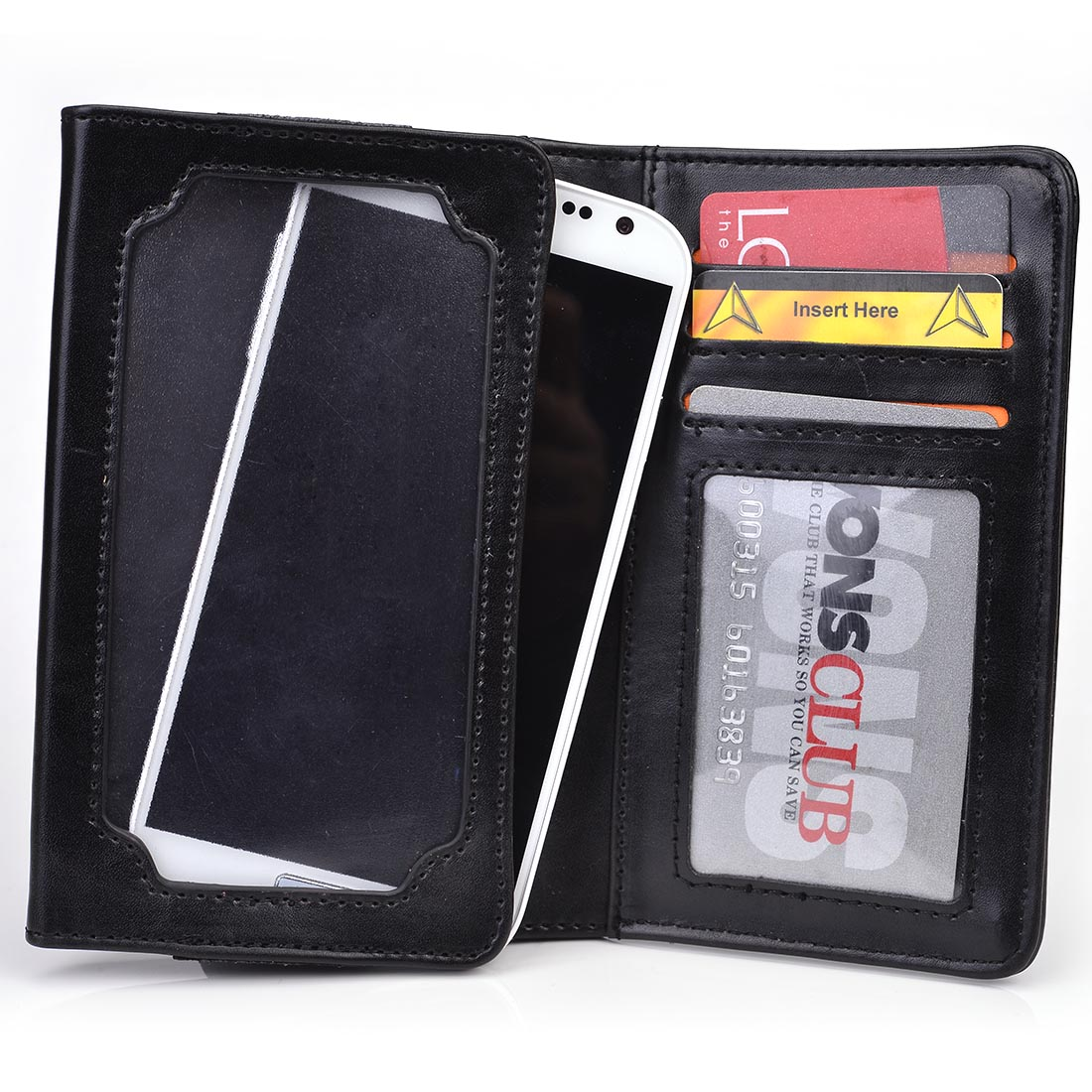 Kroo's Men's Leather BiFold Wallet and 5-inch Smartphone Case