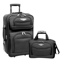 Traveler's Choice Amsterdam 2-Piece Carry-On Luggage Set Gray
