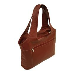 Women's Piel Leather Laptop Hobo 2824 Red Leather