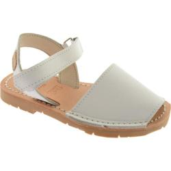 Girls' Castell Flat Ankle Strap White Leather