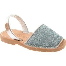 Girls' Castell Flat Menorquinas Glitter Blue Glitter