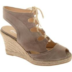 Women's Castell Miss Nubuck Laos Suede | Overstock com Shopping - The Best  Deals on Wedges