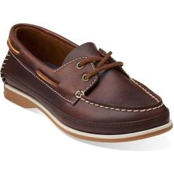 Women's Clarks Jetto Boat Brown Leather