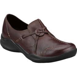 Women's Clarks Wave.Run Dark Brown Leather