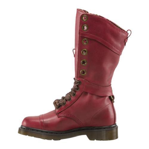 Dr. Martens Triumph 1914 W 14 Eye Boots Cherry Red Darkened