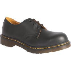 Dr. Martens 1925 5400 PW 3-Eye Steel Toe Shoe Black Fine Haircell